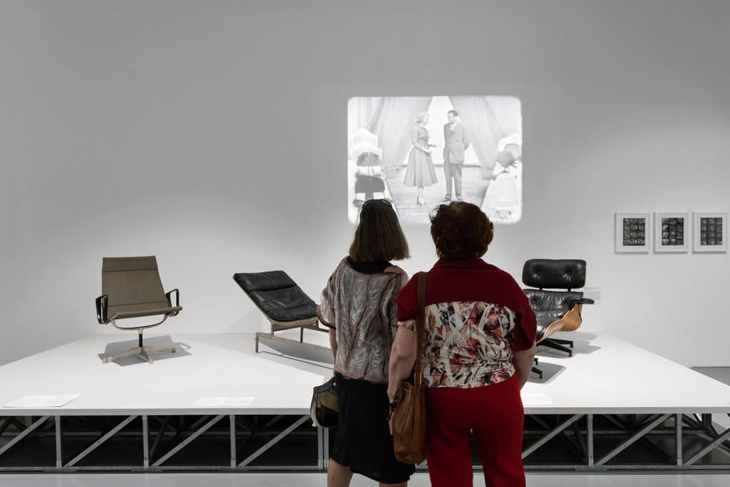 Charles Eames and Ray Eames. MAAT Museum exhibition